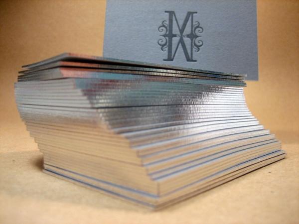 tarjetas visita papel plata valladolid